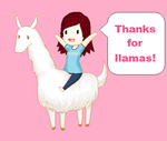 Thanks for 50 llamas! by YaoiFanNumberOne