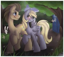 Doctor and Derpy by Drawing-Heart