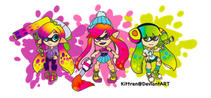 +Splatoon Girls+ by KittRen