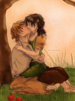 The Kissing Tree: Pippin and Diamond by RachelEwok