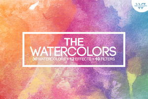 30 WATERCOLOR Textures by WGVISUALARTS