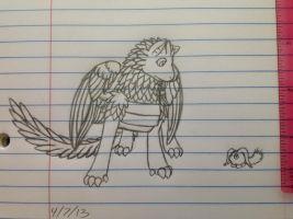 Sikkic and a Flurff sketch -4/7/13 by Jestloo