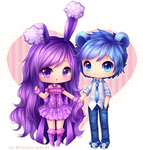 Commission - Buneary-Hime and Lord Teddi by Hyanna-Natsu