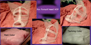 Fox Fursuit Head WIP by SilverWolf1996