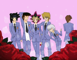 Yugioh and Ouran High School Host Club mashup! by SweetPasuteru
