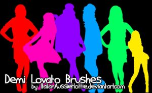 Demi Lovato Brushes by italianaussiehottie