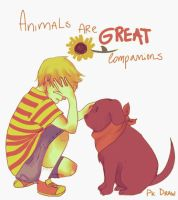 Animals are great companions by Abstractmeow