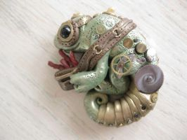 Steampunk Candy Chameleon by chromegoddess