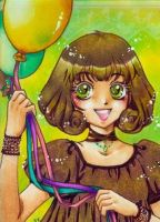 Green balloons by m-u-ll-e