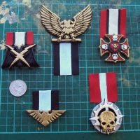 Imperial Guard Medals with test ribbons by DefenderHecht