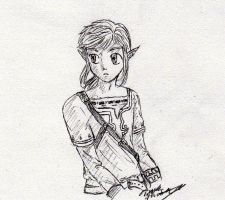 SKetchbook Doodles: Link by gir-is-my-bestfriend