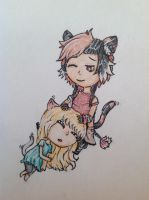 Gift 2/2 for Aenille: Reyes and Karen by ChatieAndMe