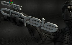 Nanosuit with Crysis logo in hand by Dracu-Teufel666