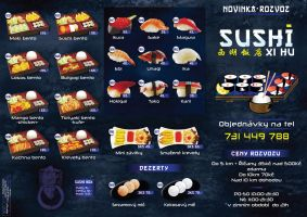 Sushi delivery menu-ouiside by R1Design