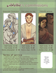 NEW commissions chart (Updated ToS and prices) by Ellie-Commissions