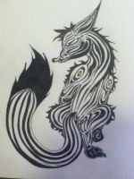 Slyfoxhound tattoo. by Wolf-Angel-whitewing