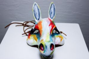 Watercolor Horse Mask 2 by LaunaEddy