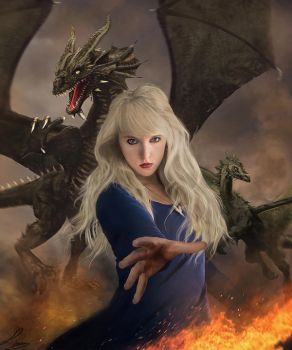 With fire and blood (Targaryen) by Liancary-art