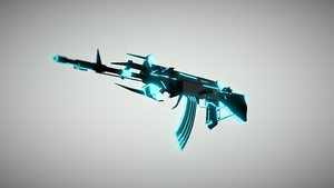Low Poly Gun Collection - AK-47 Knight by Harry7liu