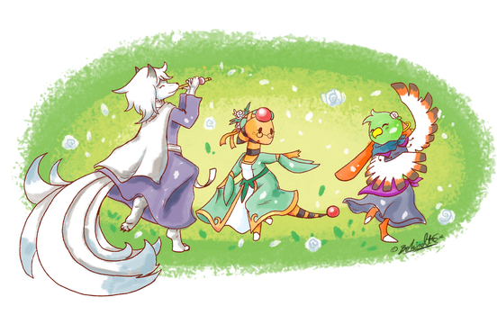 PKMNC - WR: White Petal Dance by TamarinFrog