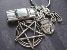 Dean Winchester Keychain by SpellsNSpooks