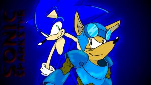 Sonic and Sparkster by ThePatronium20