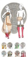 Hunger Games Chariot Outfits by Windnstorm