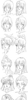 Female Hairstyles by killboring