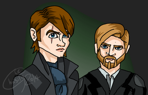 Request #3: Anakin Holmes and Obi-Wan Watson by Chrisily