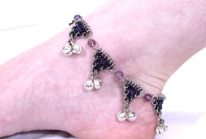 Purple Anklet by chainmaille