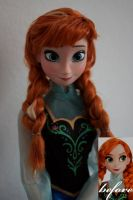 Disney Anna OOAK doll by lulemee