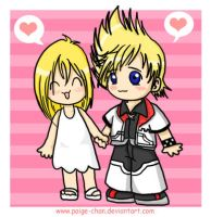 KH-Roxas y Namine by Paige-chan