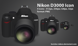 Nikon D3000 Icon by borislav-dakov