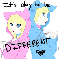 It's Okay to Be DIFFERENT (ID Pic) by The-Insane-Puppeteer