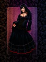 Freya Risen, Gothic dress by redfill