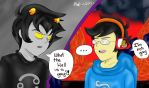 First conversation with John and Karkat by SweetDisposition2