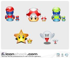 Super Mario Lumina Icons MAC by Iconshock