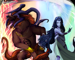 Ifrit and Shiva by Carolineshox
