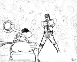 VERSUS: Luffy vs Kenshiro by cyril002