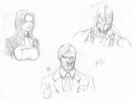 Random character sketches by RV1994