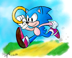 One HourSonic 01 Classic Sonic by WHATiFGirl