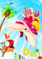 Real Amy Rose Hammer Attack by Witchking00