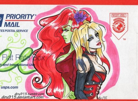 Poison Ivy and Harley Quinn by diru915