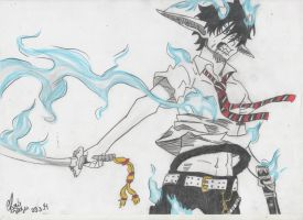 Okumura Rin- Ao no exorcist by Onihime-chan