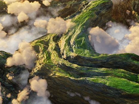 Path in the clouds by m-acie-k