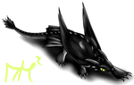 Night Fury from How To Train Your Dragon by Taglug235