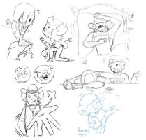 Pokemoon: Another sketch dump by RockyDee