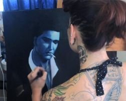 Blue Elvis - Work in Progress by RockabillyReese