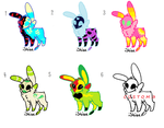 Free Skull Fuzzy Adopts, Watchers Only CLOSED by SprinkleFoxie