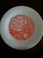 Decorated Paper Plate by Quiliny
